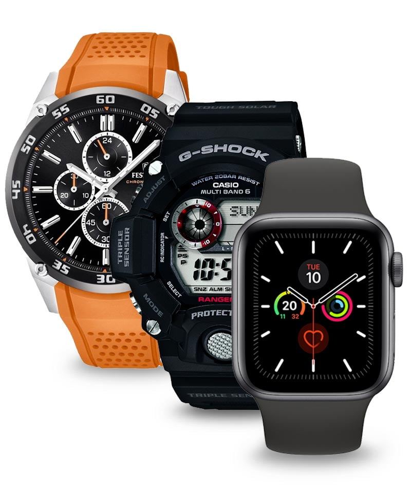 Sportos órát keres? Válogathat a tartós Casio G-Shock, ill. az Apple, a Garmin, a Suunto és számos más okosóra között