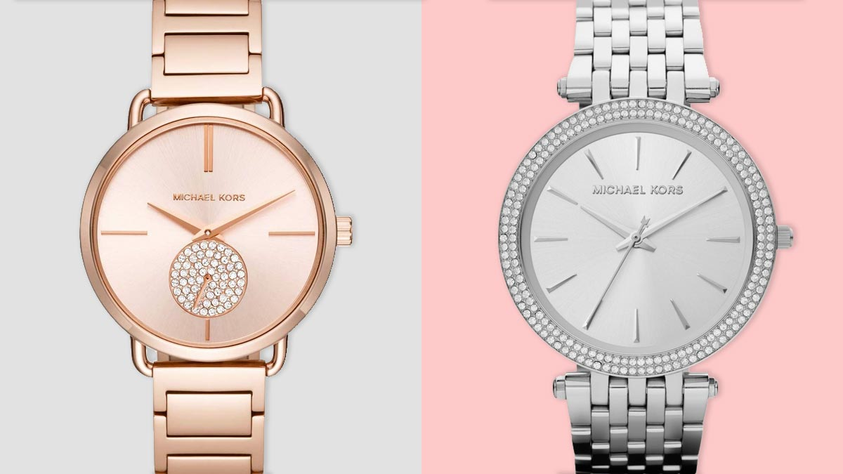 Az ezüst és a rózsaszín karóra közkedvelt színváltozat a hölgyek körében
