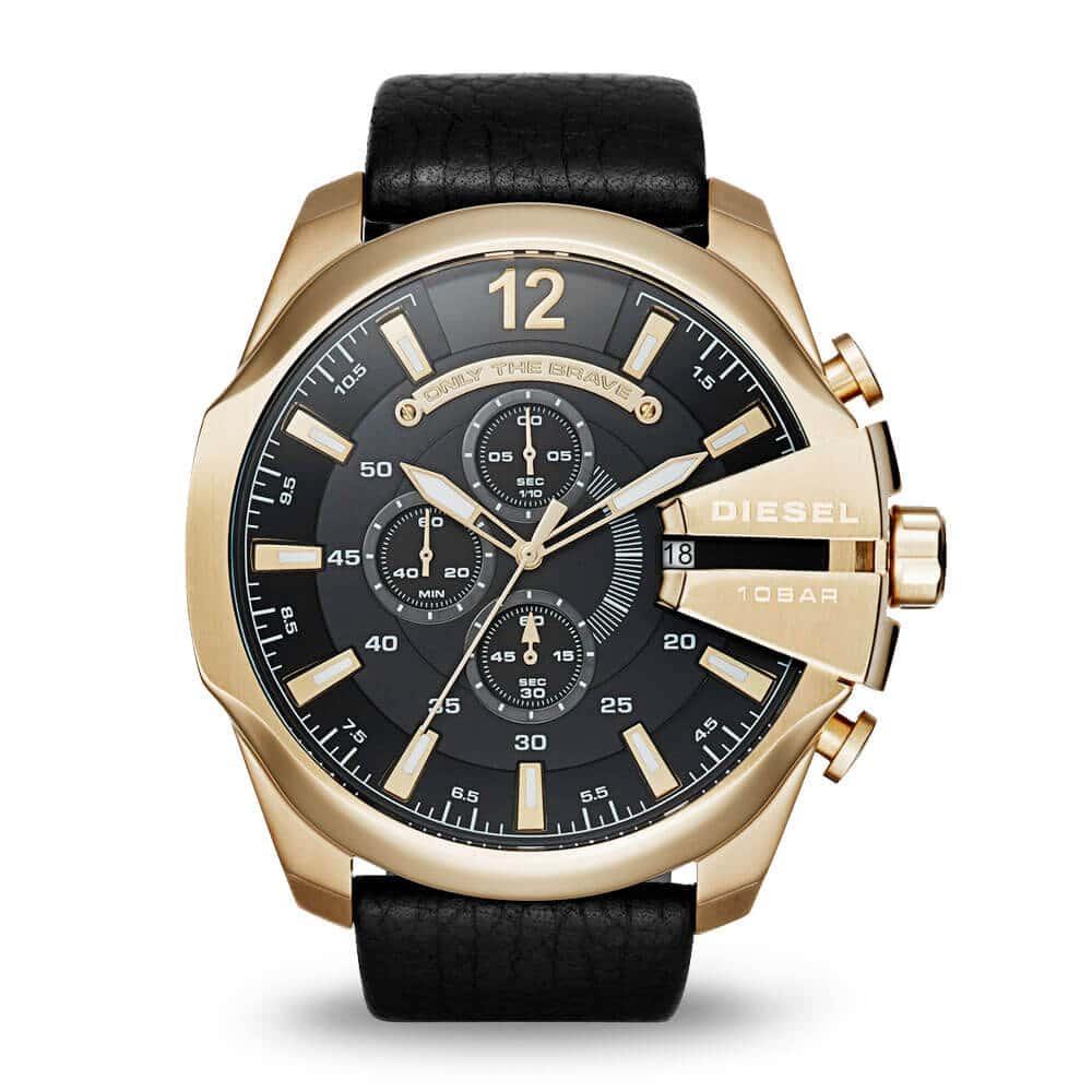 Veľké zlaté hodinky Diesel DZ4344