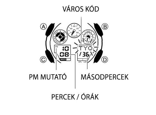 Casio G-Shock időbeállítás
