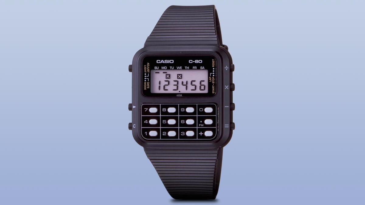 Casio C -80 - az egyik első számológépes karóra